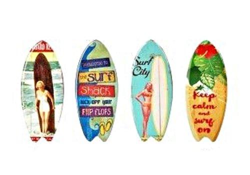 G& S Surf Magnets céramique Lot de 4 Neufs décoration Porte FRIGO 10x4cm SG