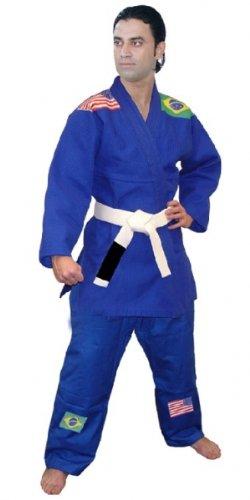 Woldorfゴールド織りBJJ B003LMC5RA Kimono inブルーサイズ7 Kimono B003LMC5RA, シワチョウ:60a27cf3 --- capela.dominiotemporario.com