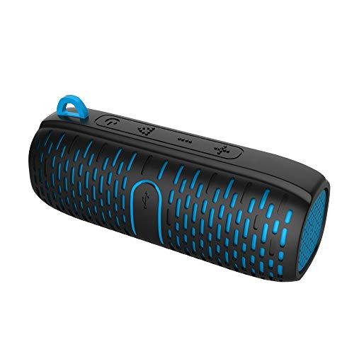Ai LIFE Bocinas portables Subwoofers Impermeables Bluetooth Micrófono Incorporado de 6W con estéreo Dual Mejorado Ideal…
