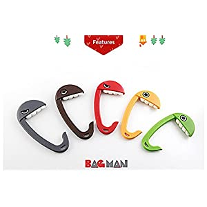 Portable Bag Hanger BAGMAN creative fun Hook (Brown)