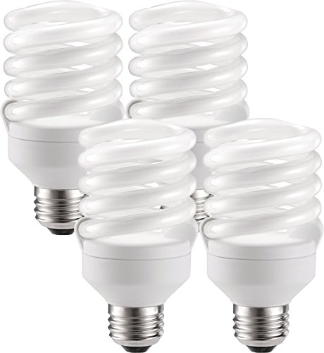 Philips Energy-Saver 18-Watt Twister Compact Fluorescent Light Bulbs (4 Bulbs)