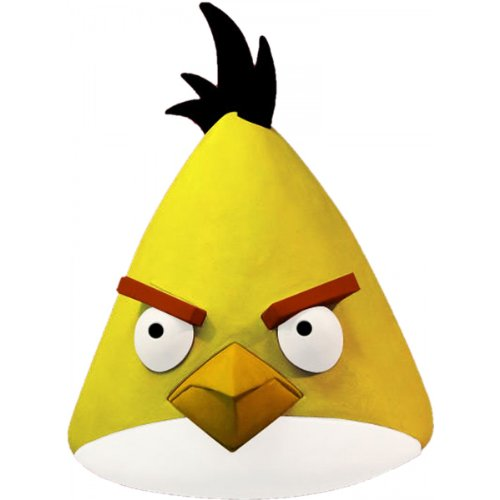 Paper Magic Angry Birds Mask, Yellow, One
