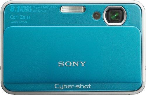 Sony Cybershot DSC-T2 8MP Digital Camera with 3x Optical Zoom (Blue)