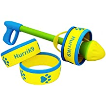 HurriK9 100+ Foot Flying Ring Launcher for Dogs Value Pack, Launcher + 6 Rings
