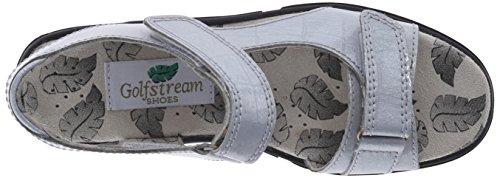 Golfstream Women's Two Strap Sandal Golf Shoe, Tuscany Faux Crocodile/Silver, 5 M US by Golfstream (Image #8)