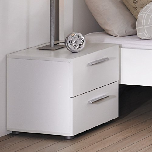 Cute Size Lopiccolo 2 Drawer Nightstand-White
