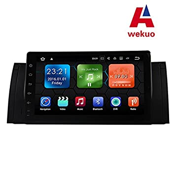 Wekuo - Reproductor de Vídeo para Coche, Pantalla Táctil Completa DE 22,86 cm, Android para BMW E39, X5, M5, E38, E53: Amazon.es: Electrónica
