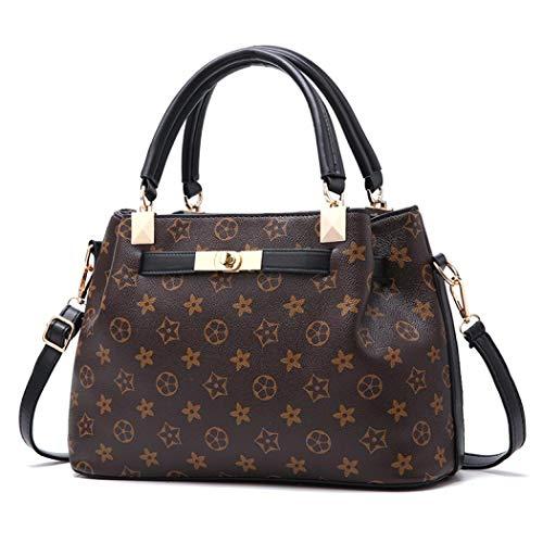 Designer Crossbody Bag Leather Handbag Fashion Shoulder Messager Bags for Womens (Style 1 black)