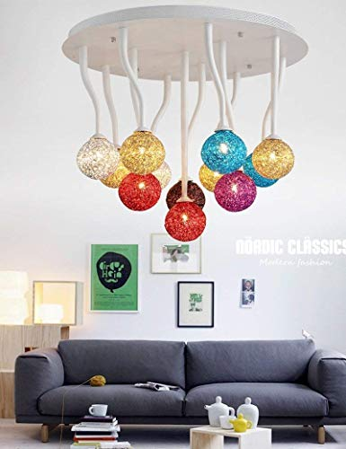 DEE Lights - Living Room Ceiling Lights Mount Flush Post-Simple Acrylic Lounge Lamp The Bedrooms The Lighting are in Three Can Be Obtained Led Household Light,12