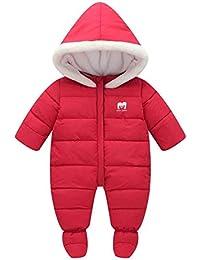 40e0fa949ec8 Unisex Baby Winter Hooded Down Jumpsuit Snowsuit Romper Warm Parmsuit Infant  Bodysuit Onesies