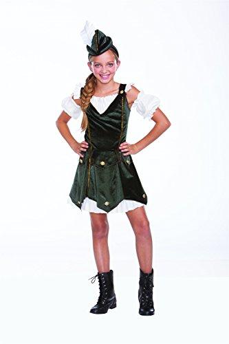 Robin Hood Halloween Costume Girl (Rob'n da Hood Costume,M/L)