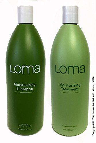 LOMA Moisturizing Shampoo and Moisturizing Treatment (DUO PACK) 33 Ounce (Liter) by Loma