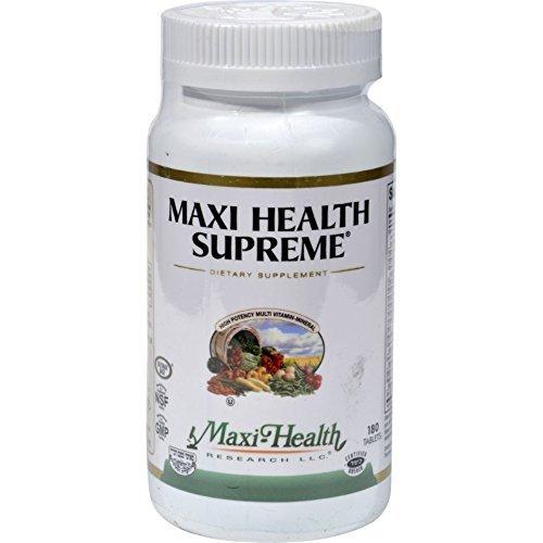 Maxi 180 Tabs Health Supreme - Maxi Health Kosher Vitamins Maxi Health Supreme 180 Tab