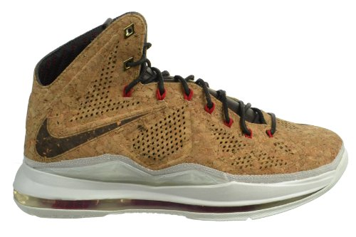 Lebron-X-Ext-Cork-QS-Mens-Basketball-Shoes-Classic-BrownUniversity-Red-Hazelnut
