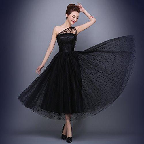ad maniche Donna linea Senza Bridal Nero Mall a Vestito qZtFSPw