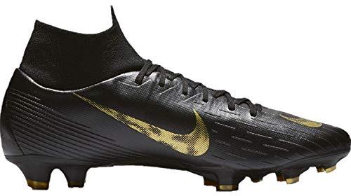 (Nike Men's Superfly 6 Club (MG) Multi Ground Soccer Cleat Black/Metallic Vivid Gold Size 7 M US)