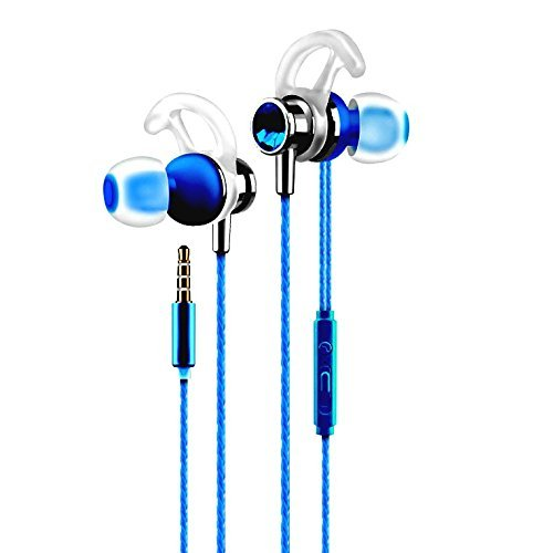 (Josi Minea 3.5mm HD Premium Headphones - Stereo Earphone Headset with Volume, Play/Pause Controller & Built-in Microphone [ Royal Blue ])