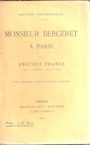 Monsieur Bergeret A Paris [Pdf/ePub] eBook