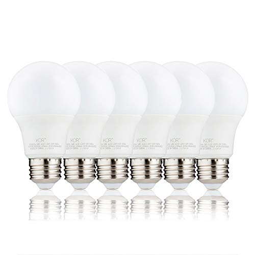 (Pack of 6) KOR 9W LED A19 Light Bulb – (60W Equivalent), UL Listed, 3000K (Soft White), 800 Lumens, Non-Dimmable, LED 9…
