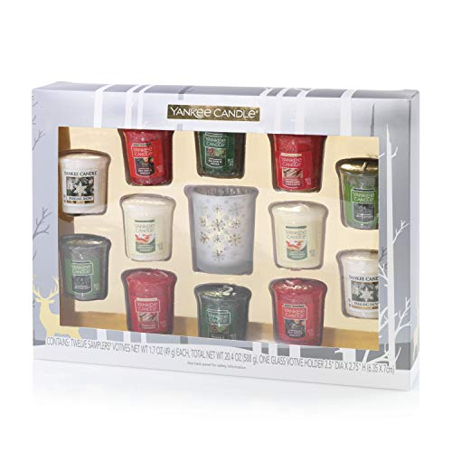 Yankee Candle Sampler Votive Candle Gift Set, Seasonal, Festive