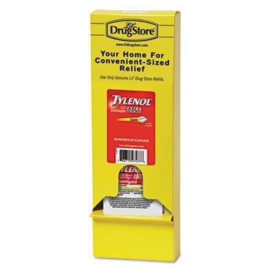 Tylenol 97477 Acetaminophen, 500mg, Extra Strength Caplets, Refill, 2 /Packet, 30 Packs/Box