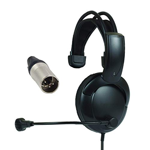 (Telex RTS Single Muff Headphones with Male XLR Four pin Connector Installed)