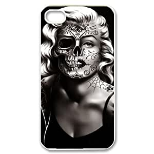 Zombie Marilyn Monroe Original New Print DIY Phone Case for Iphone 4,4S,personalized case cover ygtg692632