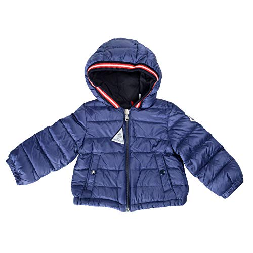 Moncler Kid's BLASIMON Blue Down Parka Jacket Moncler Size 9/12 US 9/12Month ()