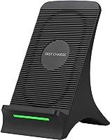 Aviski 10W/7.5W ON/OFF可能冷却ファン搭載 Qi認証ワイヤレス充電器 置くだけ充電 QC3.0 急速充電 iPhone SE (第2世代) /11/11pro/XS/XR/XS Max/X/8/8 Plus対応...