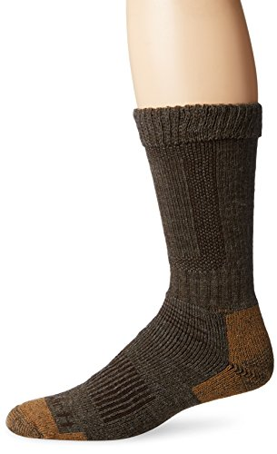 Carhartt Men's Comfort Stretch Steel Toe Socks,  Brown, Shoe