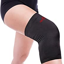 Copper Knee Sleeve – Compression Fit Support, High Copper Content – For Man & Women - Protects Patella, Faster Pain Relief, Injury Prevention, Guaranteed Recovery Brace - Wear Everywhere. SINGLE