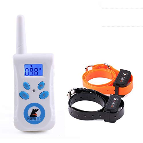 2 Dog Training Collar for 2 Dogs with 1600ft Remote Range IPX6 Waterproof Rechargeable E-Collar with 3 Modes Lights Flash Beep Vibration & Shock and All Breeds Behavior Aids,2
