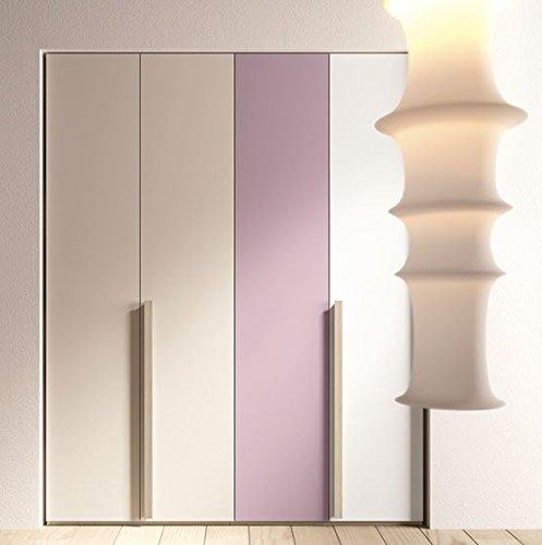 dafnedesign. com - Dormitorio completa para niña, colores morado, blanco, pardo, Olmo. Completa de color 2 armarios 2 puertas - 1 cama individual, ...