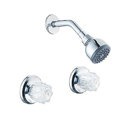 Glacier Bay 2 Handle Shower Faucet.Glacier Bay 833w 0101 Aragon Watersense 2 Handle 1 Spray