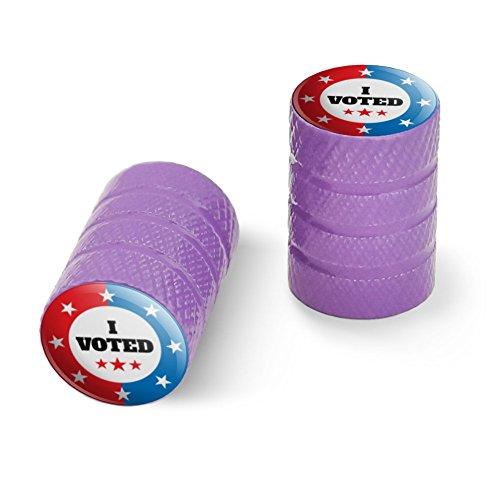 私は赤い白青愛国に投票しましたオートバイ自転車バイクタイヤリムホイールアルミバルブステムキャップ - パープル