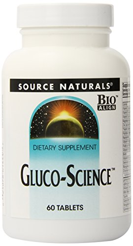SOURCE NATURALS Gluco-Science Tablet, 60 Count