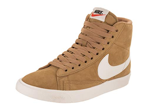 Blazers Nike Gold (NIKE Women's Blazer Mid VNTG Suede Elemental Gold/Sail Sail Black Casual Shoe 9 Women US)