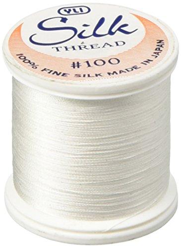 (YLI 20210-WHT 100wt T-12 Silk Thread, 200m, White)