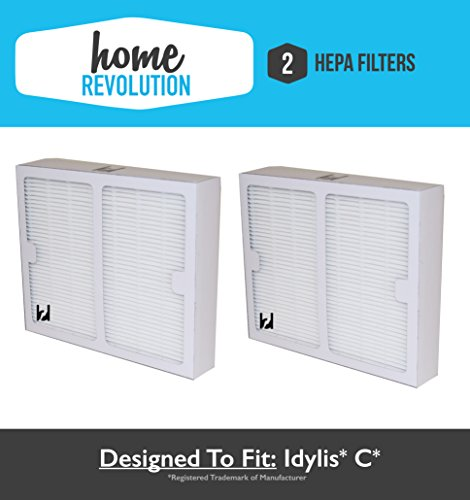 2 Idylis B Hepa Home Revolution Brand Air Purifier Filter 2 Pack; Replacement Made To Fit Idylis IAP-10-125, IAP-10-150; Model # IAF-H-100B, IAFH100B
