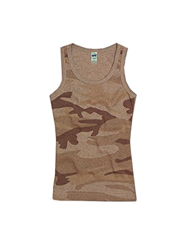 Kavio Big Girls 7-16 Heather Camouflage Beater Tank Camo Desert Sand L