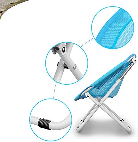 Xiao Jian- Folding Chair - Lazy Back Home Recliner Folding Lunch Break Adult Happy Dormitory Portable Bedroom Student Leisure Chair (color : A) E