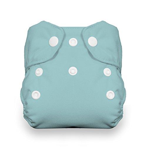 - Thirsties Newborn All in One Cloth Diaper, Snap Closure, Aqua