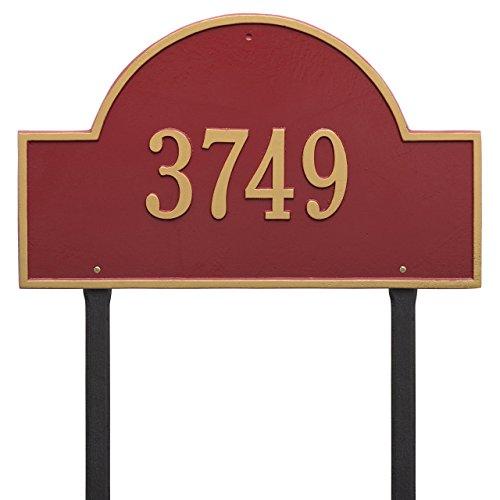 Custom 1 Line Arch Marker Estate LAWN Address Plaque - 24