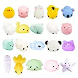 Toys : LEEHUR 20Pcs Squishy Toys, Party Favors Mochi Squishies Mini Squeeze Funny Toy Soft Stress and Anxiety Relief Toys for Kids/Adults Random Color