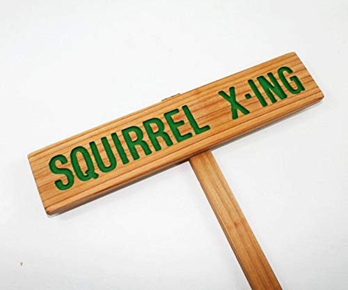 SQUIRREL X-ING Caution Sign, Squirrel Marker, Animal Signage, Custom Marker, Personalized Sign, Outdoor Signage, Squirrel Crossing, X-Ing Marker, Squirrel