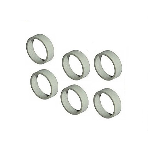 ent Rubber Train Rims for 4.5v and 12v Locomotive Wheels (Service Pack of 6 - Gray) (Intercity Train)