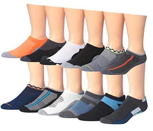 James Fiallo Men's 12 Pairs Low Cut Athletic Sport Peformance Socks (2910-11)