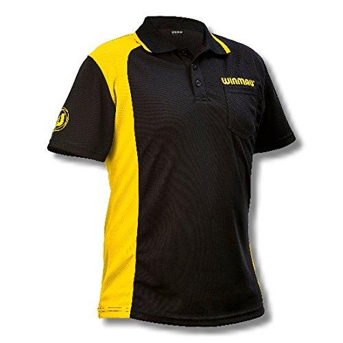 Unbekannt Dart Shirt Original Winmau GELB WINCOOL Dartshirt in Einem tollen und modernen Design. Größe L
