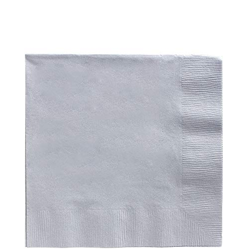 Amscan Silver Luncheon Napkins Big Party Pack, 125 Ct.]()
