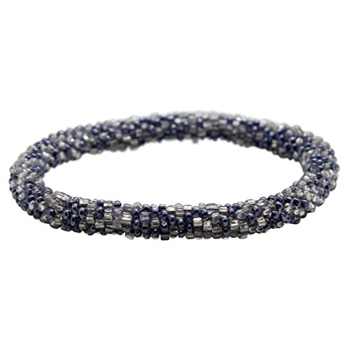 Aid through Trade Beaded Roll-on Bracelet (Blue-Lt. (Fair Trade Glass)